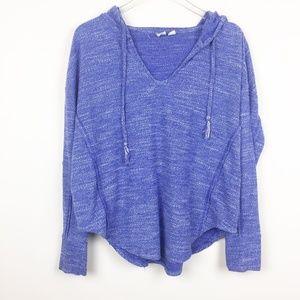Roxy | Raw Edge Knit Hoodie Sweatshirt